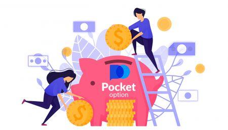 Comment retirer et faire un dépôt d'argent dans Pocket Option